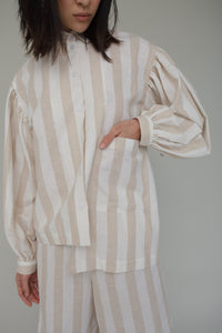 Elisa Top in Beige Stripe
