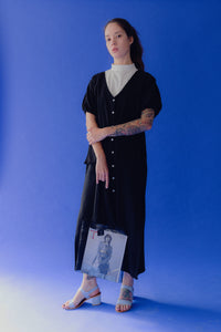 Organza Tote in Black