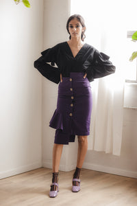 Ruby Skirt in Black Twill
