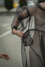 Load image into Gallery viewer, Jayme Dress in Black Organza