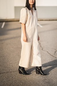 Ryan Jumpsuit in Cotton Canvas