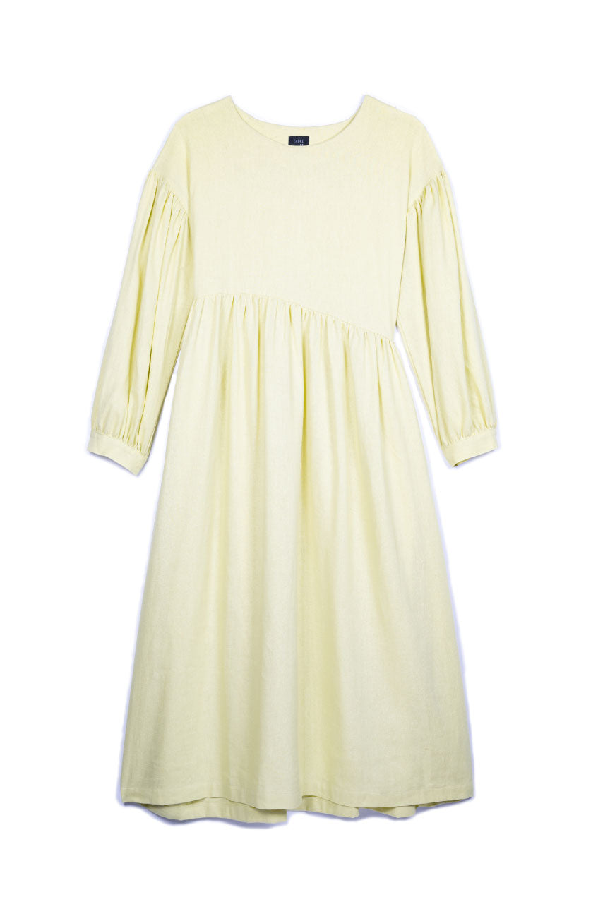 Jayme Dress in Lime Linen