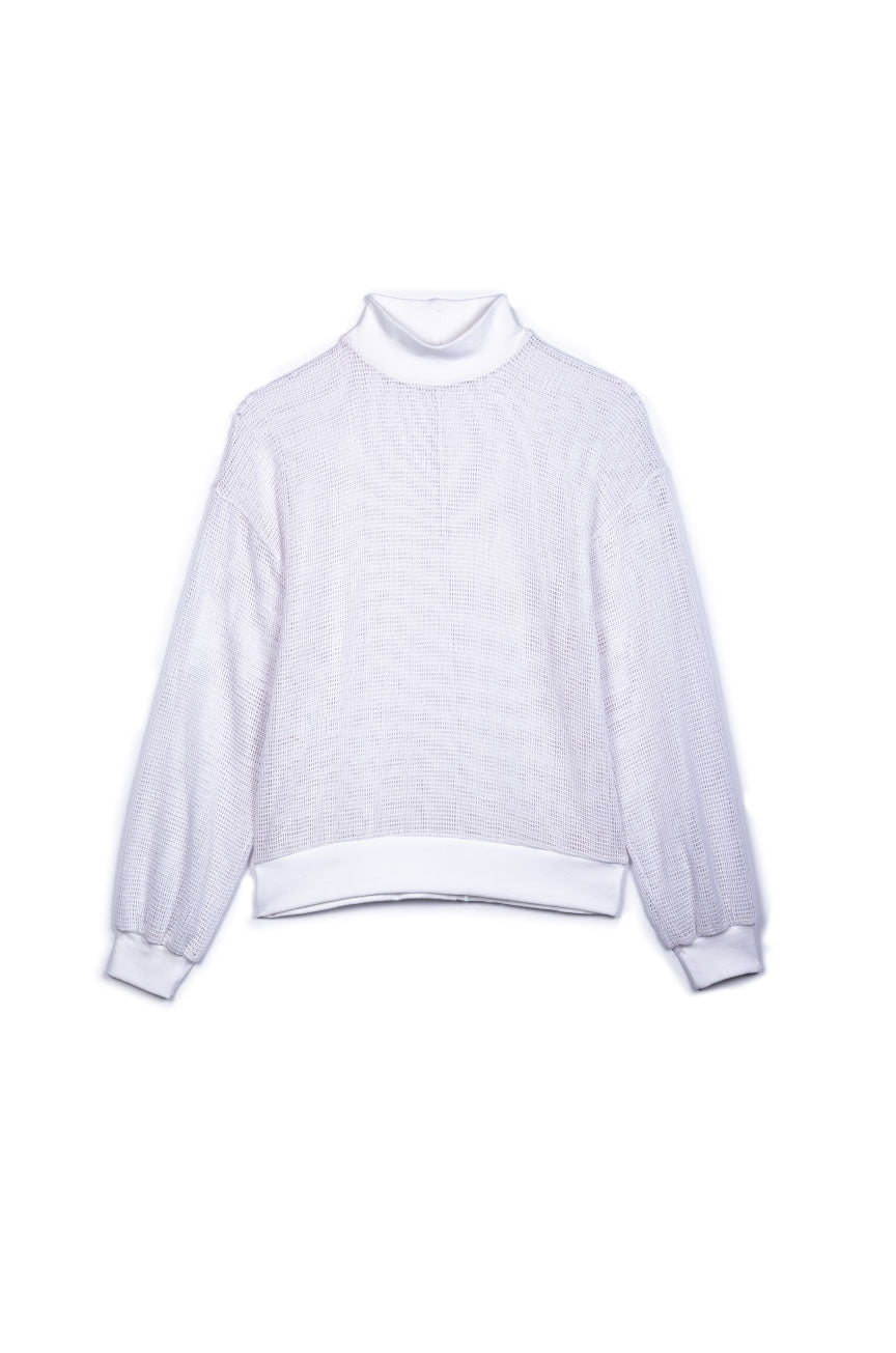 Jennifer Sweatshirt in White Netting