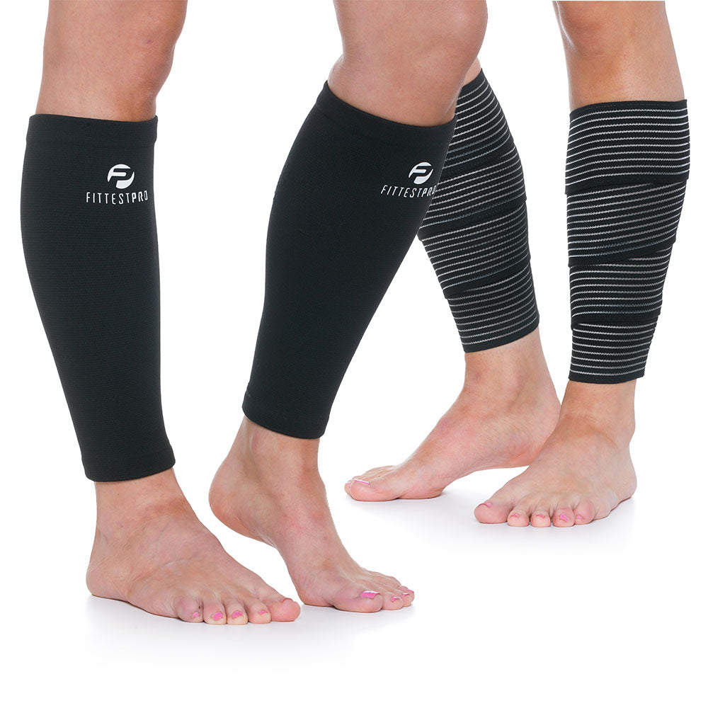 60a8dd77ec71cf Calf Compression Sleeves & Leg Wraps Set – Fittest Pro