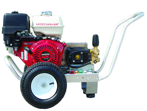 MysticWasher® Belt Drive Honda GX390 Engine 4.0 GPM 4200 PSI Pressure Washer - Cold Water Gas