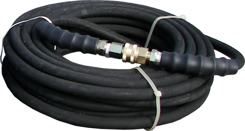 "50' Black 3/8"" High Pressure Line - 4000 PSI"