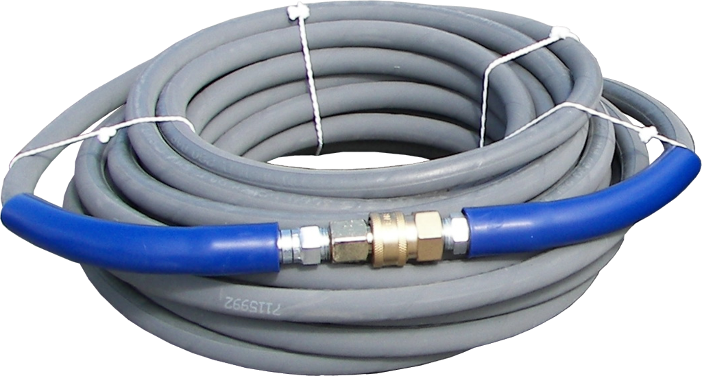 "50' Gray 3/8"" High Pressure Line - 4000 PSI"