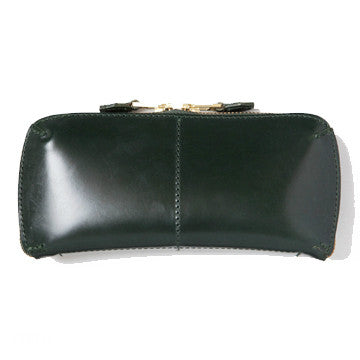 LEATHER WALLET (L) green