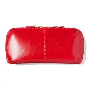 LEATHER WALLET (L) red