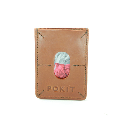 LEATHER CARD HOLDER tan