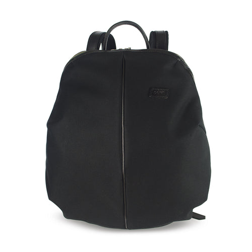 CANVAS AND LEATHER CAPSULE BACKPACK black