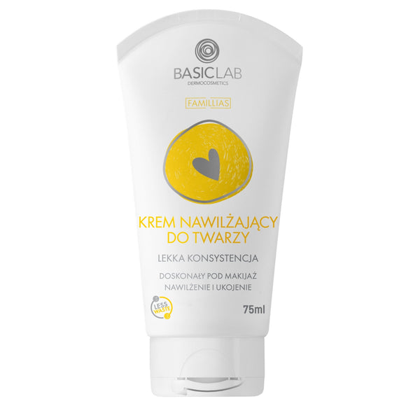 BasicLab Moisturizing face cream. Light consistency 75ml - BasicLab