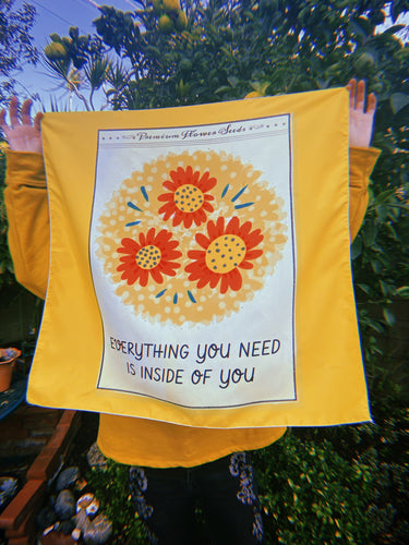 """Everything You Need is Inside of You"" Tapestry"