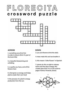 Florecita Crossword Puzzle
