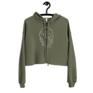CALLA LILY cropped Hoodie