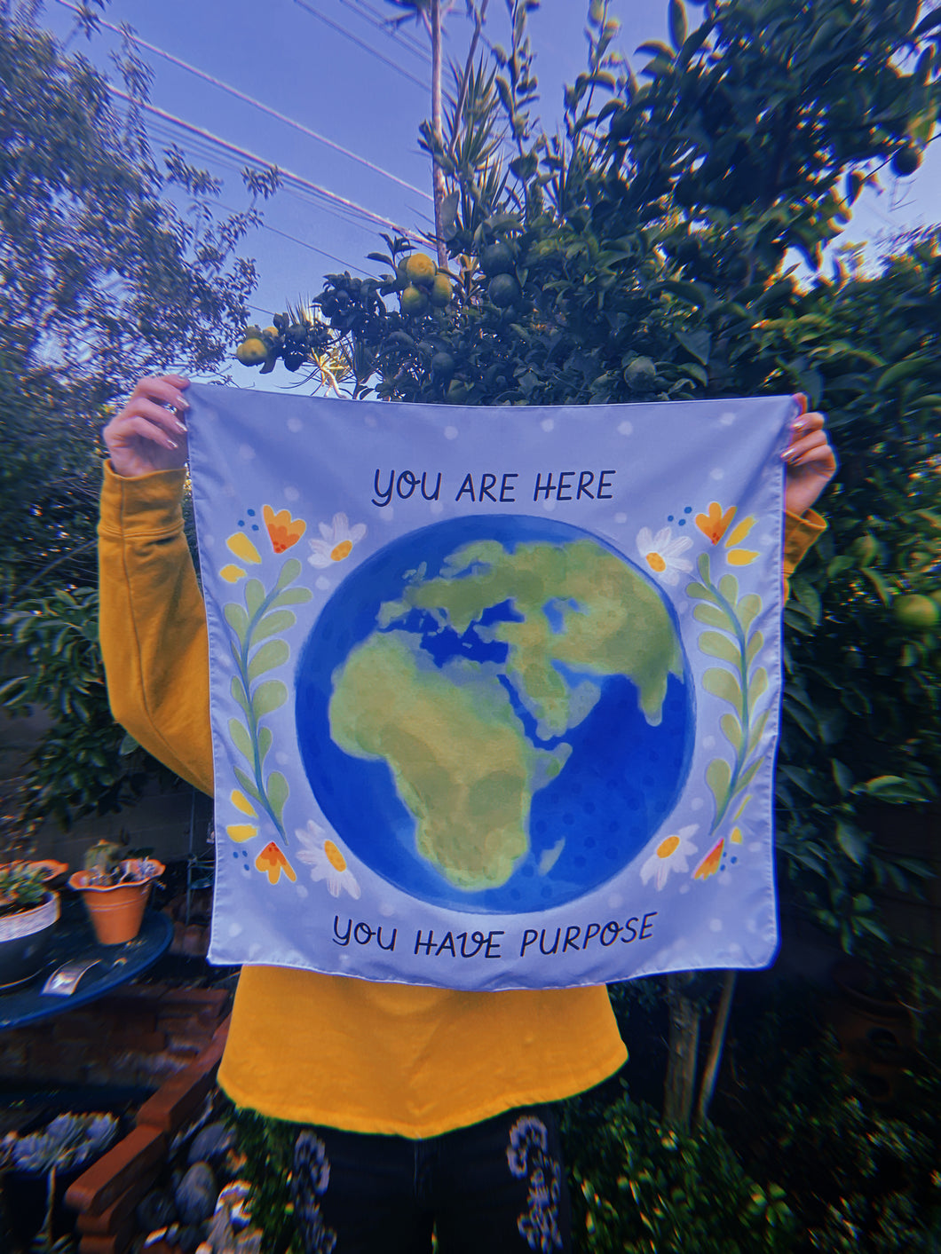 """You Are Here, You Have Purpose"" Tapestry"