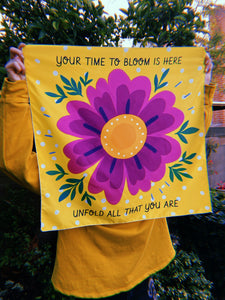 """Your Time to Bloom is Here"" Tapestry"