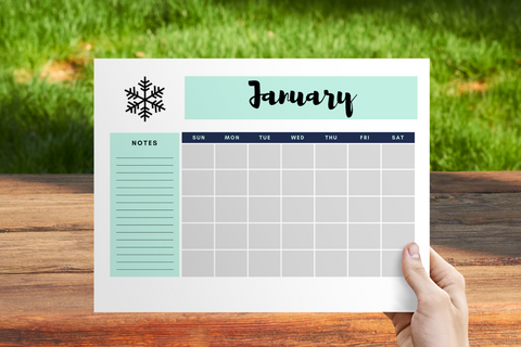 Blank Calendar || 12 Pages