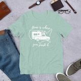 Home Is Where You Park It T-Shirt - Truck Camper