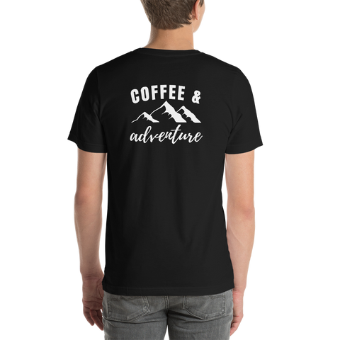 Back of T-Shirt - Coffee and Adventure