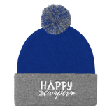 Happy Camper Pom Pom Knit Cap