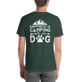 Back of T-Shirt - Happiness is Camping with my Dog