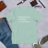 Weekends Coffee & Camping T-Shirt