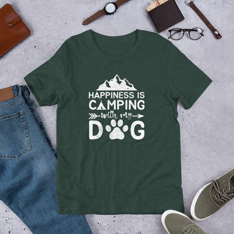 Camping With My Dog T-Shirt