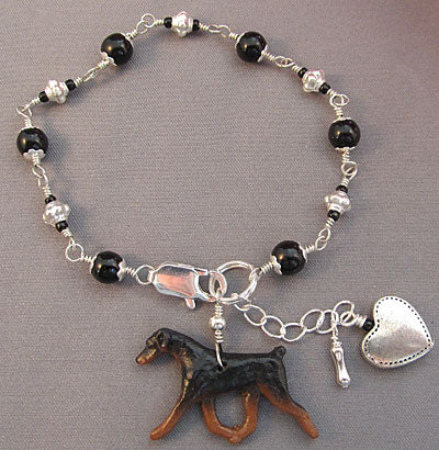 Doberman Pinscher Dog Bracelet Natural Ear