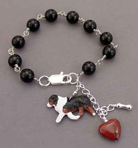Australian Shepherd Bracelet Handcrafted Dog Jewelry