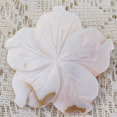 Pale Pink Blush Flower Pin Brooch Mother of Pearl