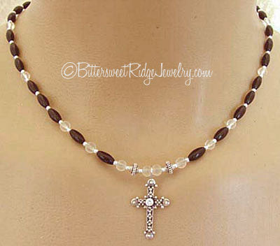 Sterling Silver Cross Necklace Symbol Jewelry
