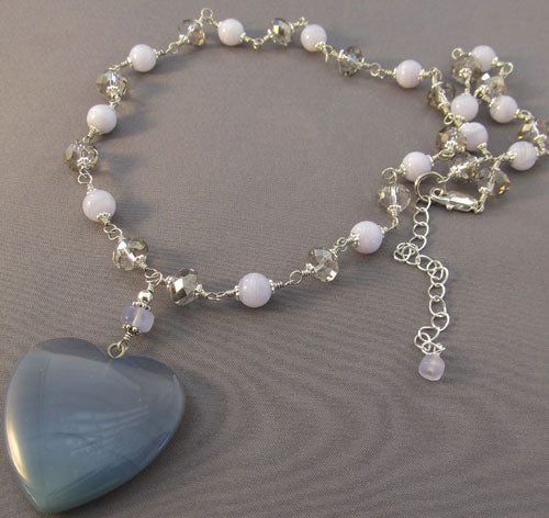 Romantic Twilight Heart Jewelry Silver Crystal Jewelry