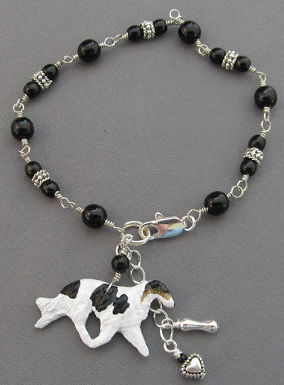 Borzoi Silver Bracelet Russian Wolfhound Dog Breed Jewelry