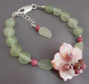 Cottage Garden Flower Bracelet Romantic Jewelry