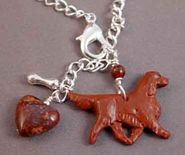 Irish Setter Dog Breed Bracelet Silver Jewelry