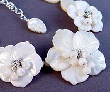 Flower Blossom Bracelet Wedding White Romantic Floral Jewelry
