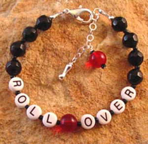Roll Over Dog Bracelet Handcrafted Jewelry