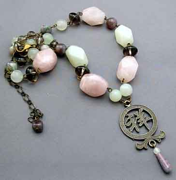 Chunky Chinese Blessing Necklace Fertility Jewelry