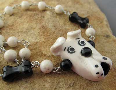 Bully Breed Dog Lover Necklace White Pit Bull