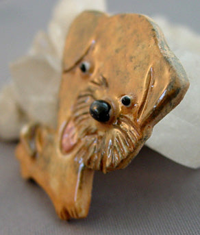 Terrier Puppy Dog Breed Pin Brooch Handcrafted Jewelry