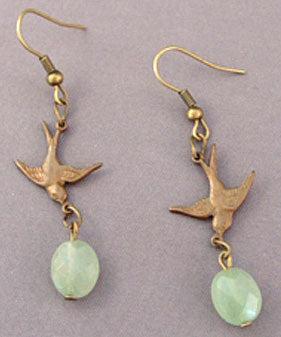 Vintage Swallow Bird Earrings Romantic Jewelry