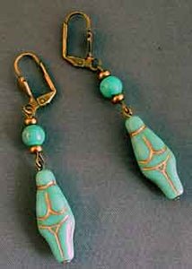 Turquoise Goddess Earrings Fertility Jewelry