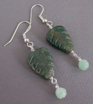Exotic Garden Amazonite Earrings Gemstone Jewelry