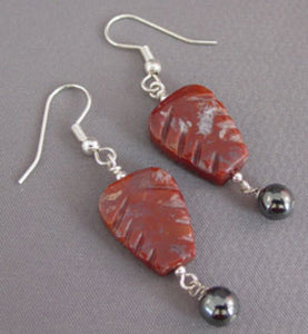 Gothic Autumn Garden Leaf Earrings Silver Jewelry