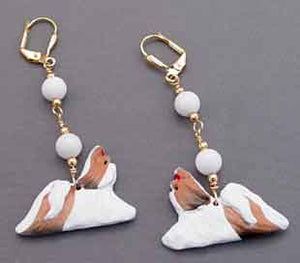 Shih Tzu Earrings Handcrafted Dog Breed Jewelry