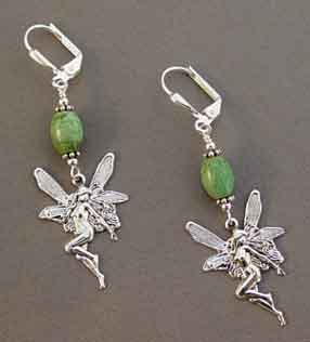 Turquoise Fairy Earrings Silver Goddess Jewelry