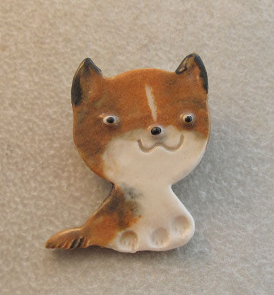 Foxy Cute Puppy Dog Pin