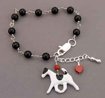 Fox Terrier Dog Bracelet Handcrafted Jewelry