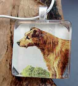Irish Terrier Necklace 19th Century Dog Breed Jewelry